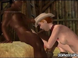 cartoon interracial picture sex