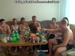 drunk party girl strips