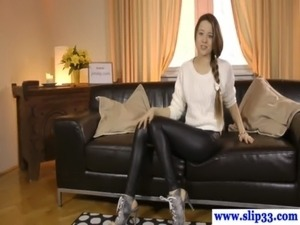 pussy leather boots