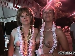 drunk girl party topless