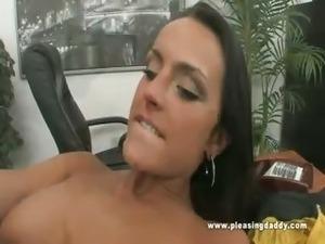 Old man sucking boobs
