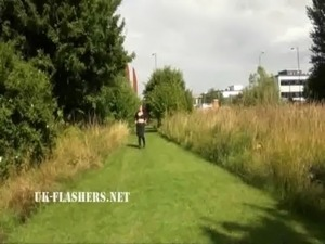 flashing cunt on street video
