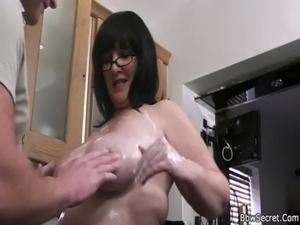 wife flashing husbands friends