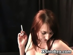 young girls smoking cigar