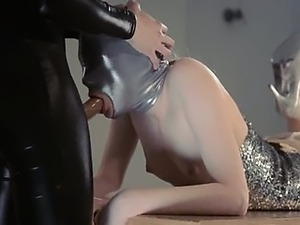 tight young lesbian anal strapon