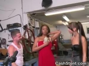 girls flashing bras