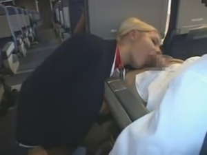 Flight attendant risky car masturbation in public parking lot after work