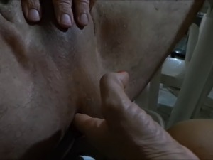 wife prostate massage clear fluid video