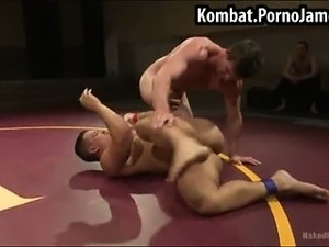 Nude oil wrestling videos