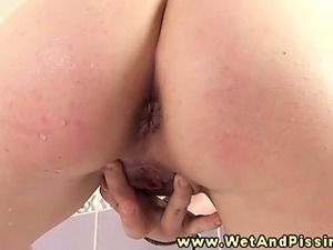 naked mature girl pissing
