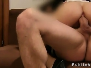 maid gets her pussy toyed