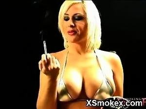 black girl smoking