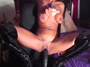 shaved pussy in leather