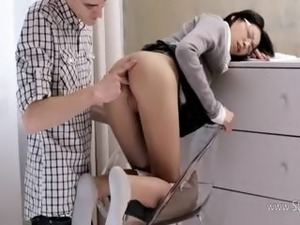 curly blonde secretary blowjob pictures