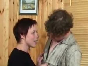 young guy screws mature russian woman