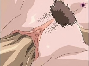 hentai girl with glasses gives blowjob