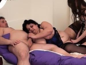 big tits lesbians strapon
