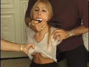black throat gag blondes