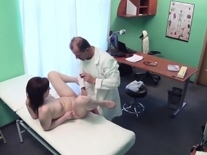 girl getting pussy examined by doctor