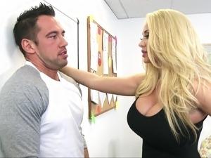 blonde busty teacher sexual