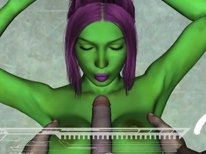 hentai sex movie with green alien
