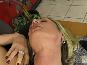 cougar blowjob mouthful video