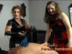 Slave licking mistress ass
