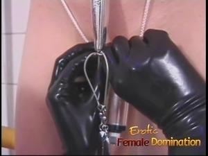 electric anal plug lesbian toilet slave