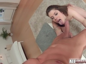 double anal creampie young