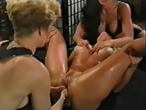 Lesbian sex with strapon