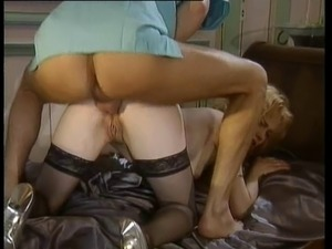 lesbian threesome double fisting bed
