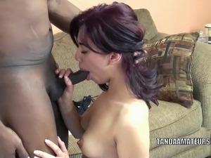 Swinging coed Sophia is taking on some big black cock