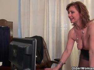 mature office girl
