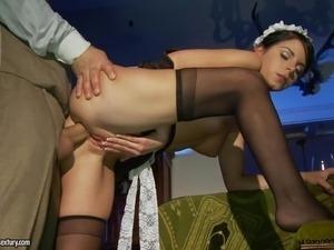 My personal big breasted masturbation maid