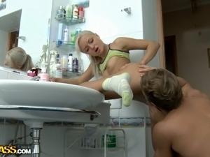 Nude girls bathing