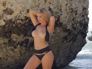sexy beach bikini video
