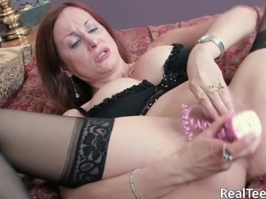 wife with vibrator orgasm