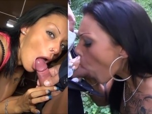 girlfriend gives blowjob cum in mouth