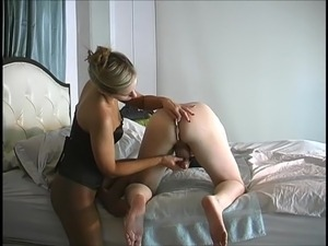 prostate orgasm from pegging video
