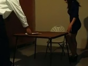 asian teen with teacher