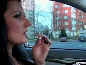 hardcore porn amber and car video