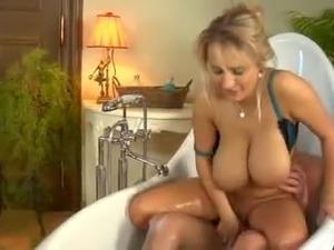 Sexy girls taking a bath