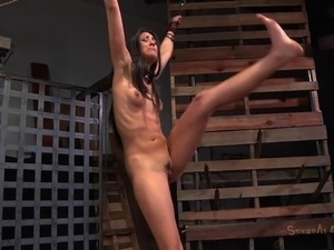 tied up girl tortured handjob