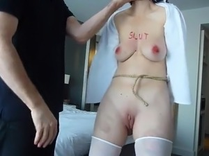 girl gets tits slapped