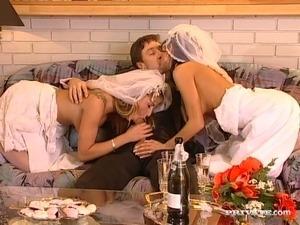 Bride group sex