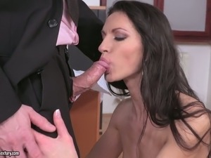 gagging blowjob girl