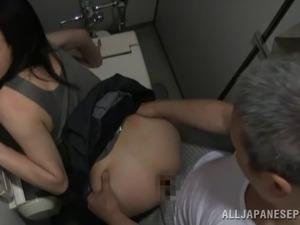 Nude girl in toilet