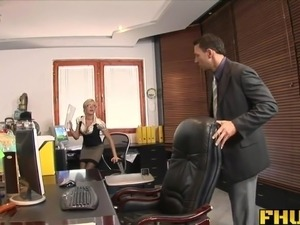 wife strips at boss party