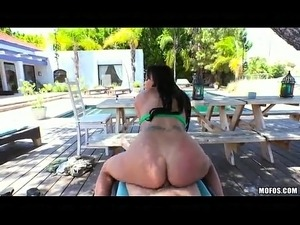 young big tits outdoors