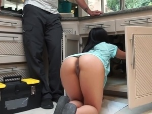 wife naked in house